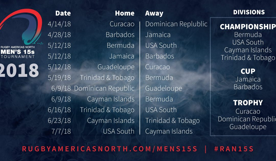 2018 Men's 15s Schedule Announced
