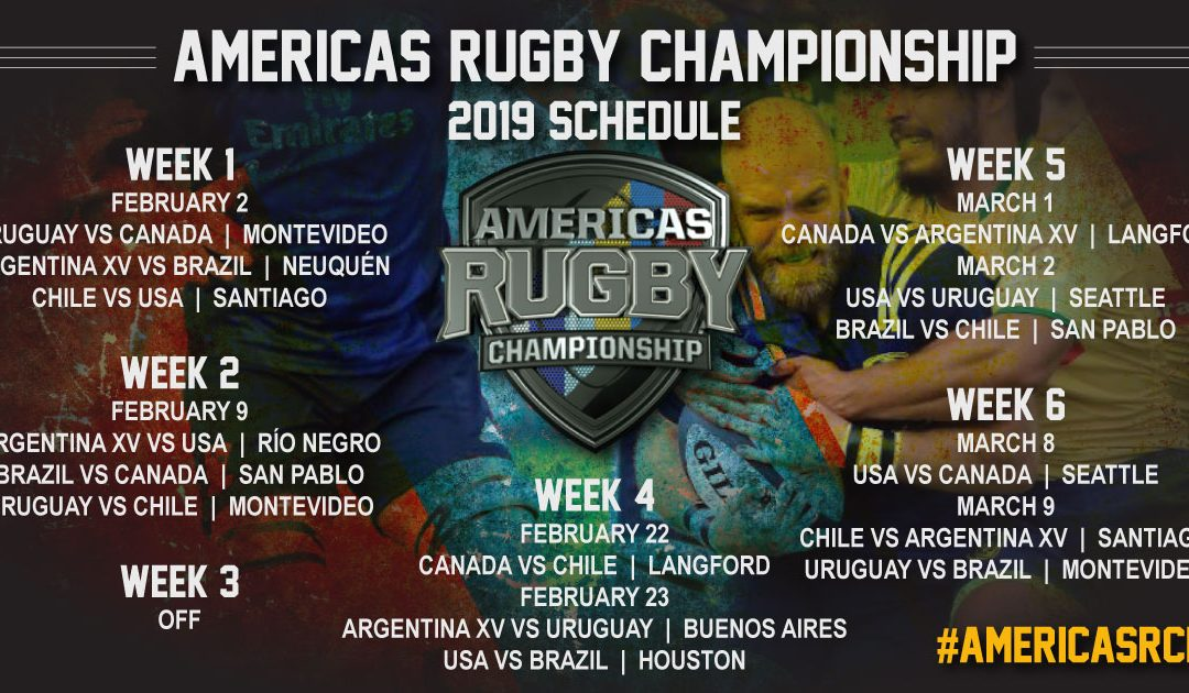 Americas Rugby Championship release 2019 schedule