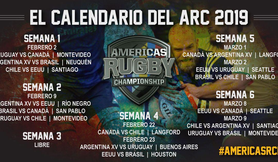 El Americas Rugby Championship 2019 anunció su calendario