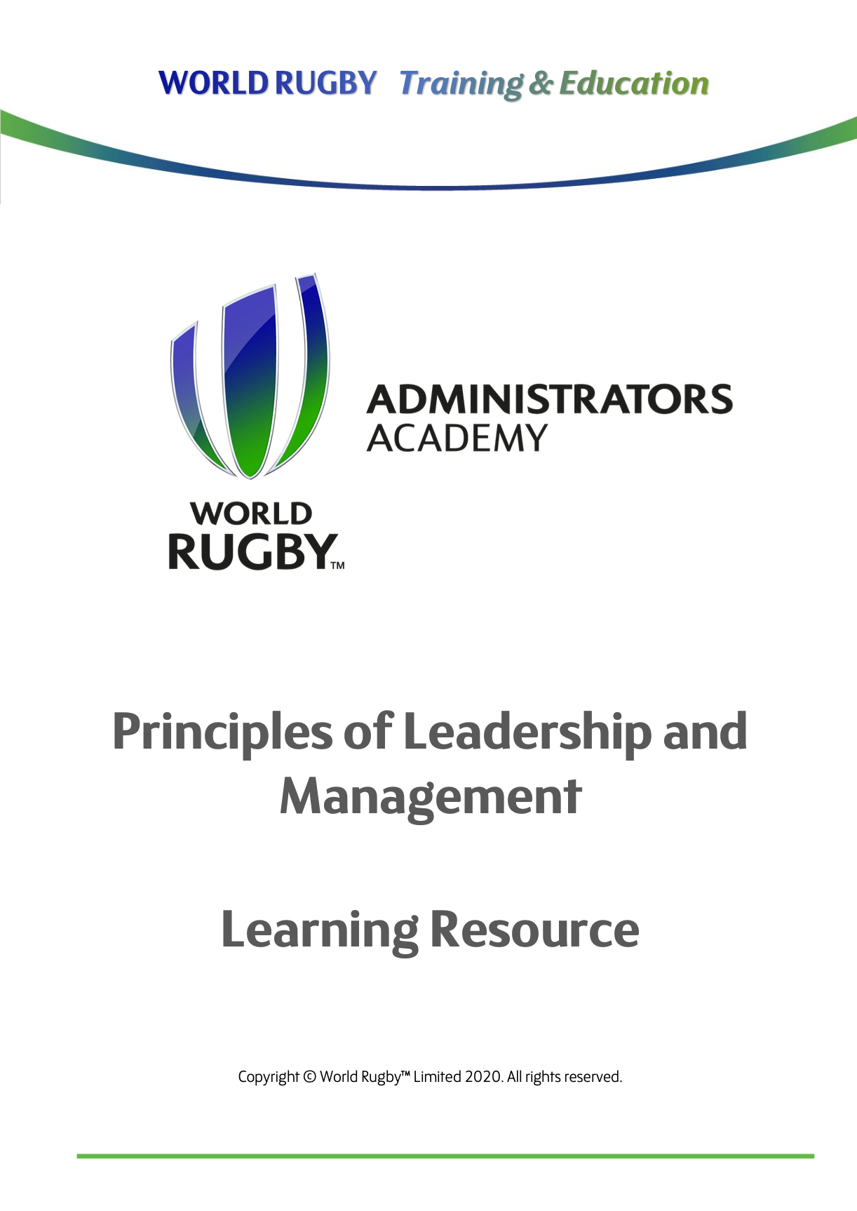 World Rugby Administrators Academy